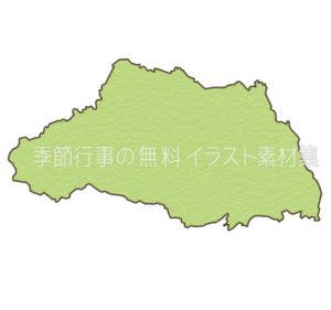 埼玉県の地図のイラスト