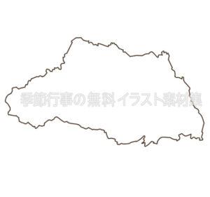 埼玉県のイラスト(白黒版)