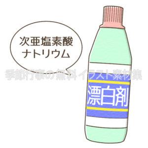 次亜塩素酸ナトリウム(漂白剤)のイラスト