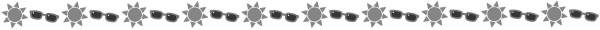 サングラスと太陽の飾り罫線(白黒版)