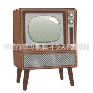 昭和のブラウン管テレビのイラスト