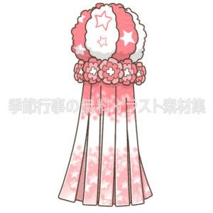 七夕飾りの吹き流しのイラスト