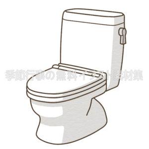 蓋が閉じているトイレ(洋式便器)のイラスト