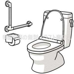 洋式トイレ(部屋)のイラスト(白黒版)