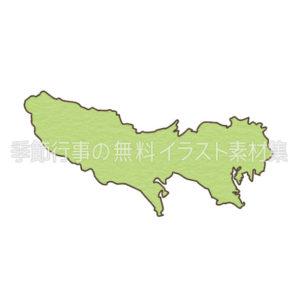 東京都の地図のイラスト
