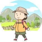 山登りのイラスト(カラー版)