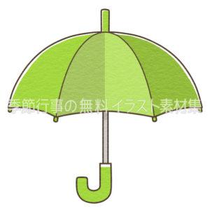 緑の傘のイラスト