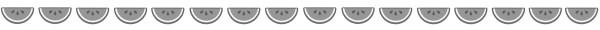 スイカの飾り罫線(白黒版)
